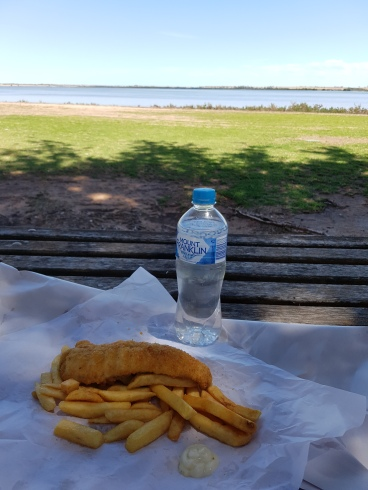 Fish & Chips with a view.