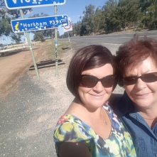 Ma & I on our way to Melbourne.
